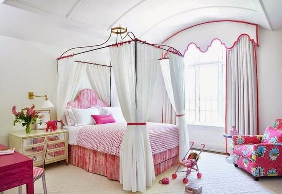 quarto de princesa rosa