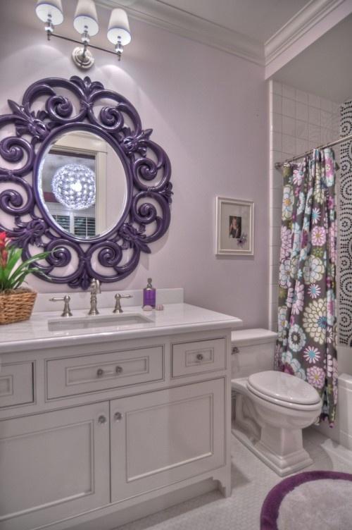 Espelho veneziano roxo