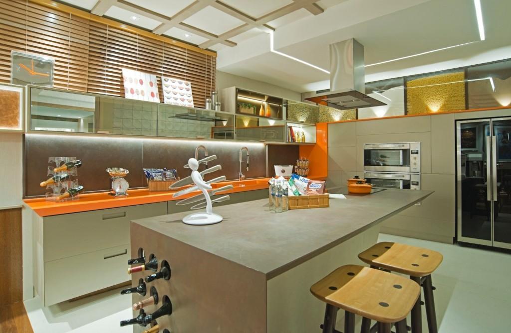 Cozinha em L sofisticada