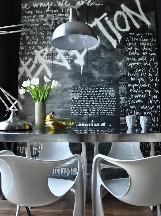 decoração com grafite em parede