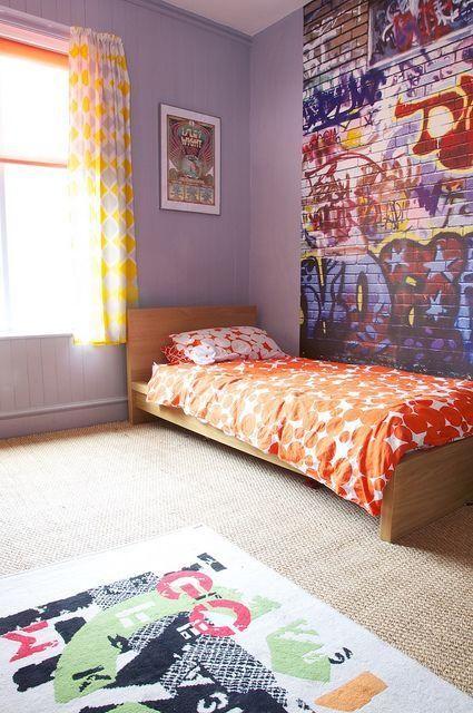 Ambientes decorados com Grafites na parede