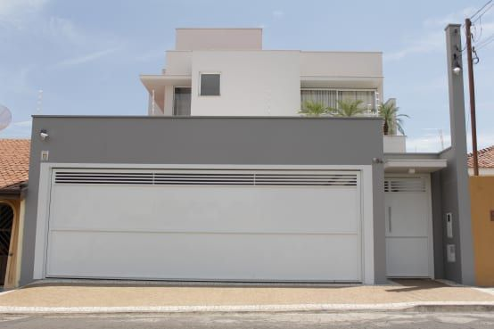 muros residenciais cinza