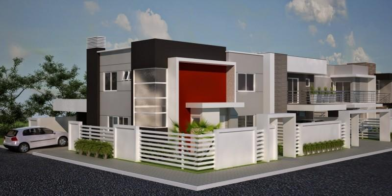 muros residenciais de esquinas