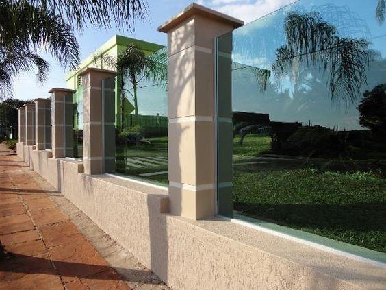 muros residenciais de vidros