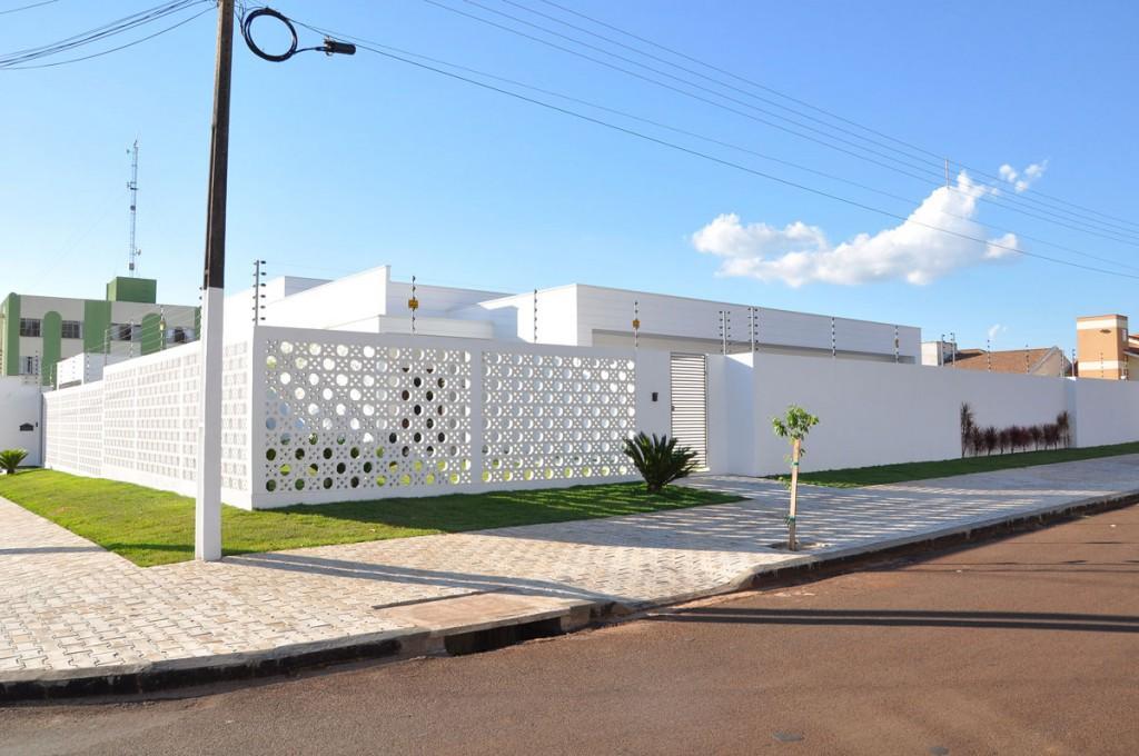 muros residenciais modelo