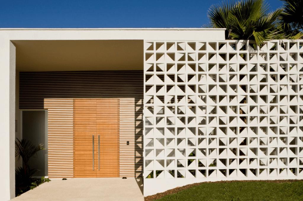 muros residenciais modernos fotos