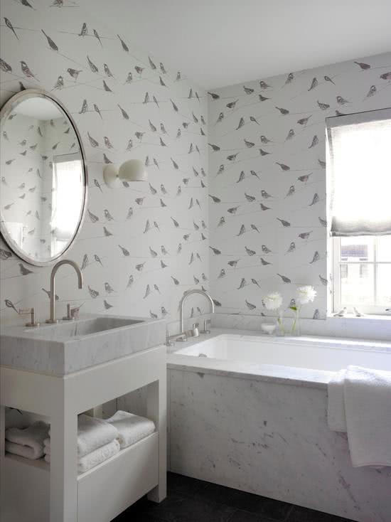 Papel de parede para banheiros